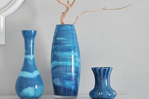 Vaso colorido com tinta acrílica- Faça você mesmo