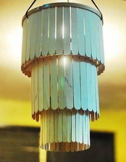 Luminária de palitos de picolé – Faça você mesmo