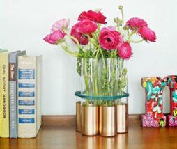 Arranjo com flores super moderno – Faça você mesmo