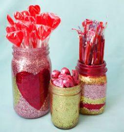 Presente para o Dia dos Namorados – pote de vidro decorado