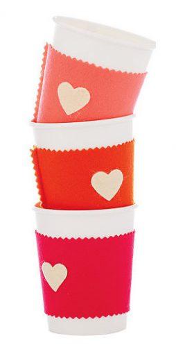 Protetor de copo personalizado para o Dia dos Namorados