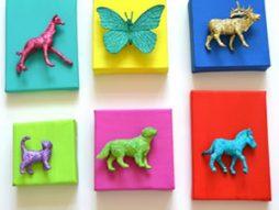 Quadro de animais super criativo para quarto de criança