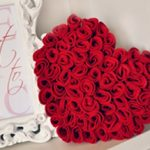 Almofada de feltro em formato de coração miniatura
