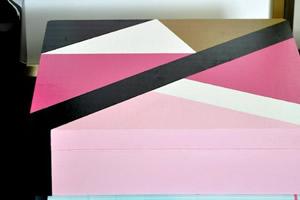 Como fazer pintura geométrica em caixa MDF