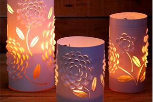 Luminárias românticas feitas com papel