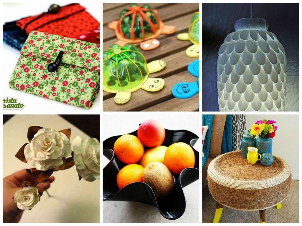 Artesanato Garrafa Pet Como Fazer ~ montagem reciclagem Revista Artesanato