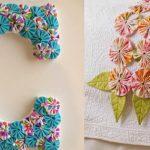 artesanato com flores de fuxico - ideias