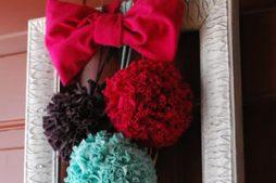 Como fazer Pompom colorido de tecido para decoração de festas