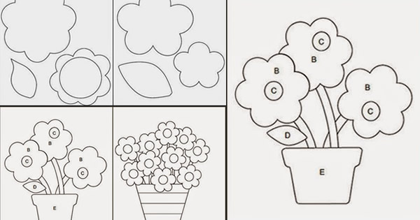 5 Moldes De Flores Gratuitos Para Você Baixar Revista Artesanato