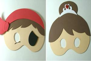 Máscaras infantis em EVA para o Dia das Crianças