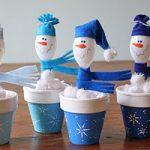 bonecos de neve mini