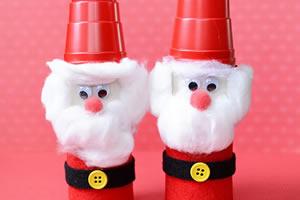 Como fazer Papai Noel reciclado com rolos de papel