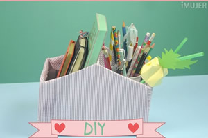 Como fazer organizador para escritório com caixa de sapato