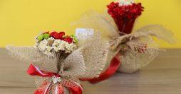 Lembrancinhas para casamento – arranjo de flores bonito e barato
