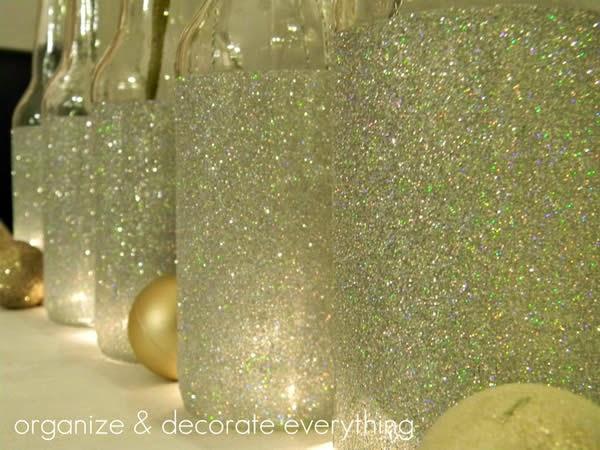 garrafa glitter