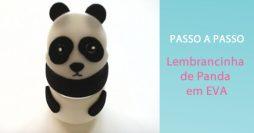 Como Fazer Lembrancinha de Festa em EVA – Urso Panda