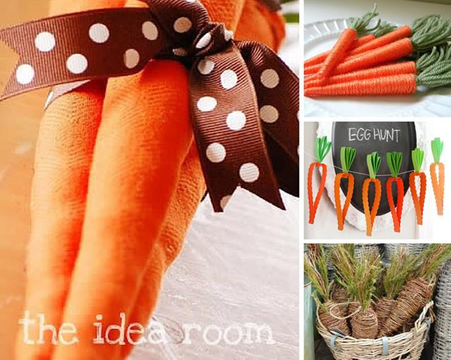 Lista de decorações em formato de cenoura para a Páscoa