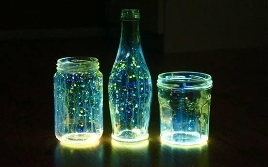 Jarras luminosas de néon
