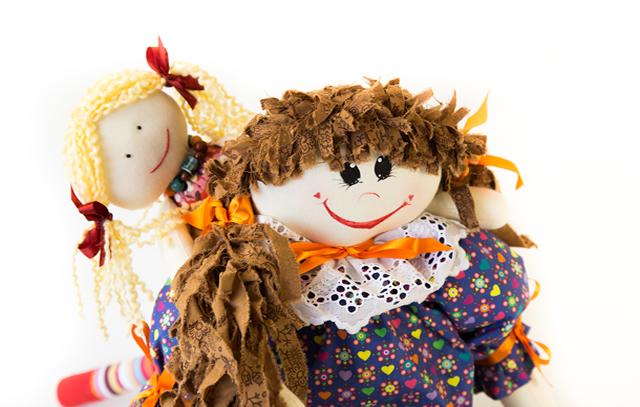Bonecas de Pano Maria Rita e Ana Laura