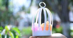 Como fazer gaiolinhas de papel para decorar festas