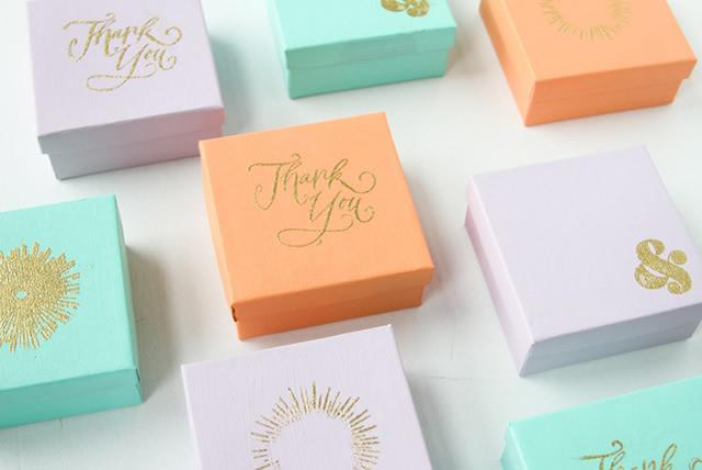 Caixinhas de doces decoradas