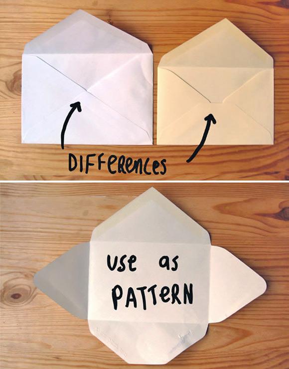 Use um envelope comum como molde