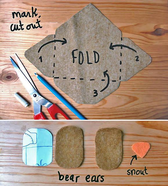 Abra as abas do envelope e corte o feltro