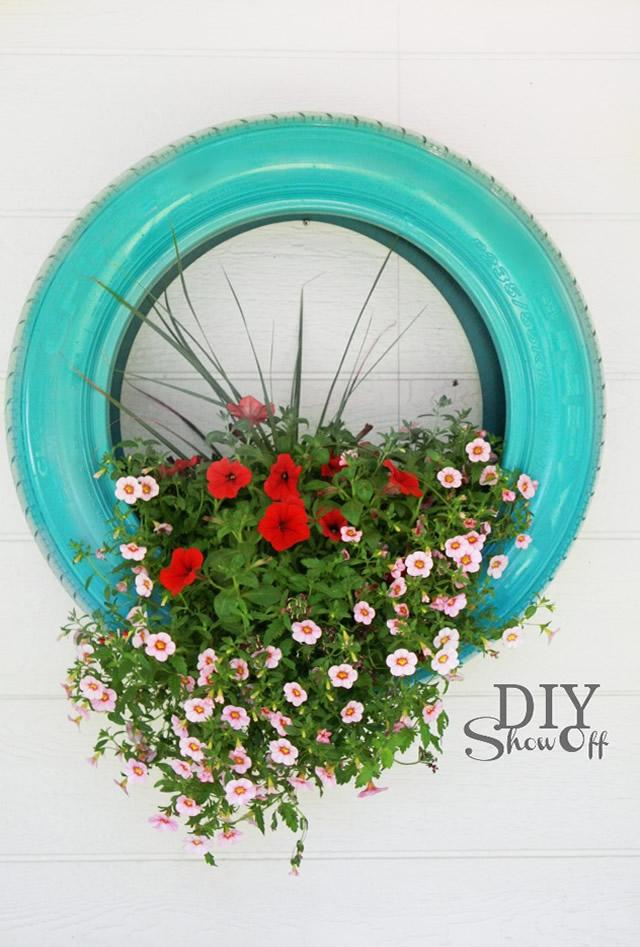 Vaso de Plantas de pneu