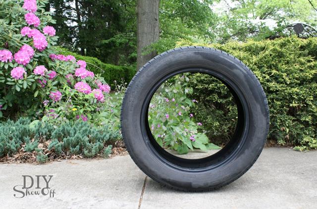 Primeiro lave bem o pneu