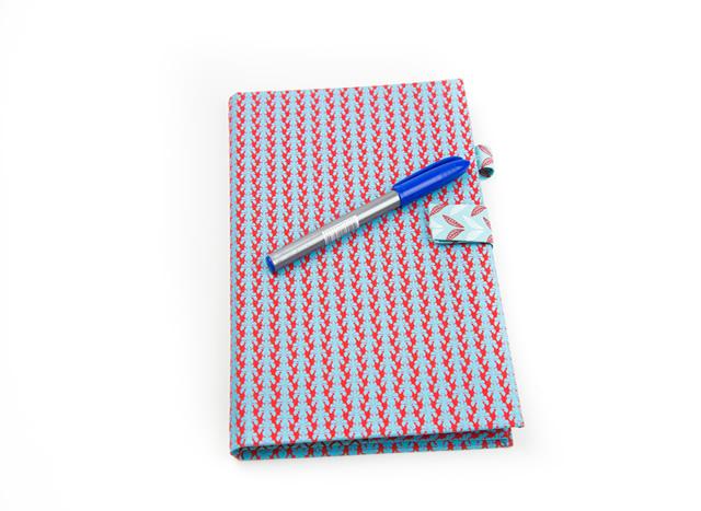 Capa de caderno artesanal