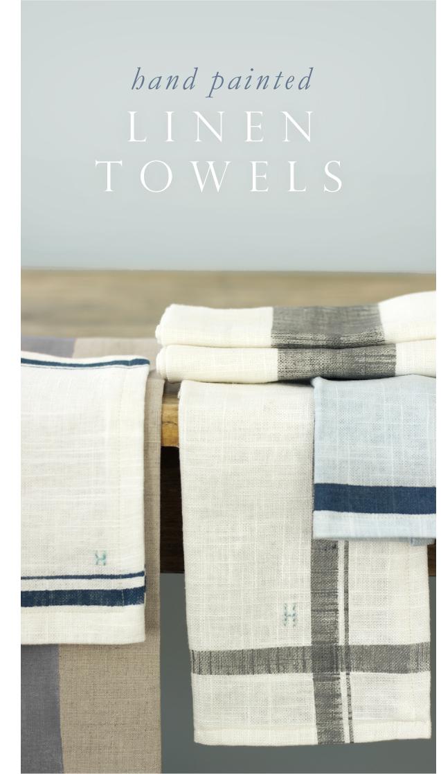 Pintura em toalhas de linho