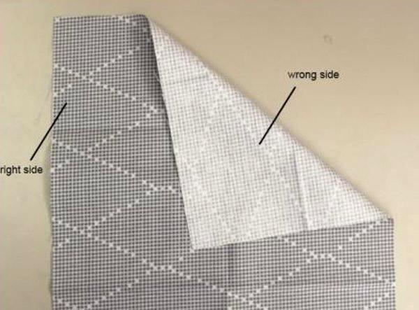 Como descobrir qual o lado certo do tecido
