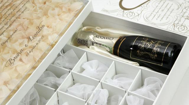 cartonagem artesanal caixa de vinho casamento