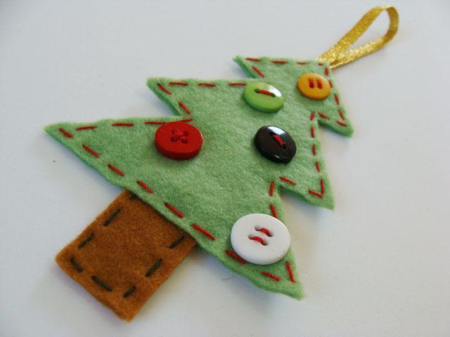 enfeite em feltro - artesanato de natal