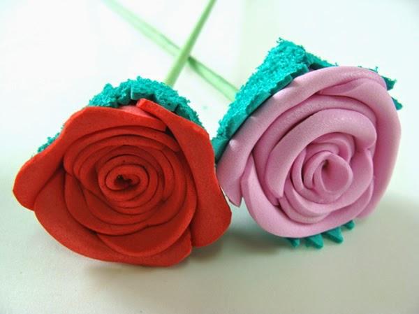 Rosas de EVA - homenagem ao professor