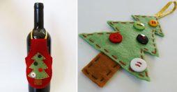 Avental Para Vinho – Artesanato de Natal