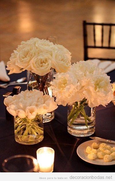 bodas de cristal arranjo de mesa