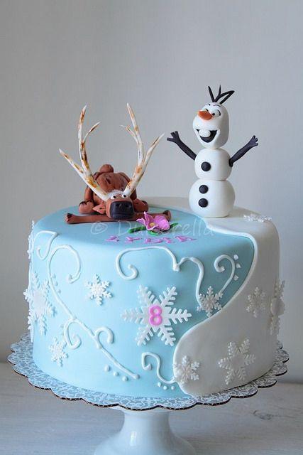 bolo festa frozen 1