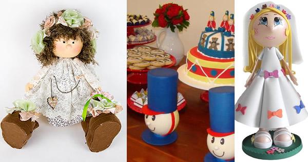 bonecos de EVA decoracao de festas capa