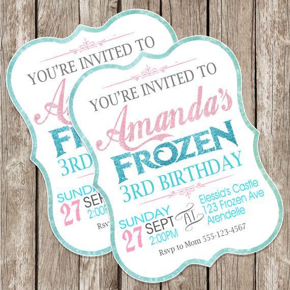 convite festa frozen 3