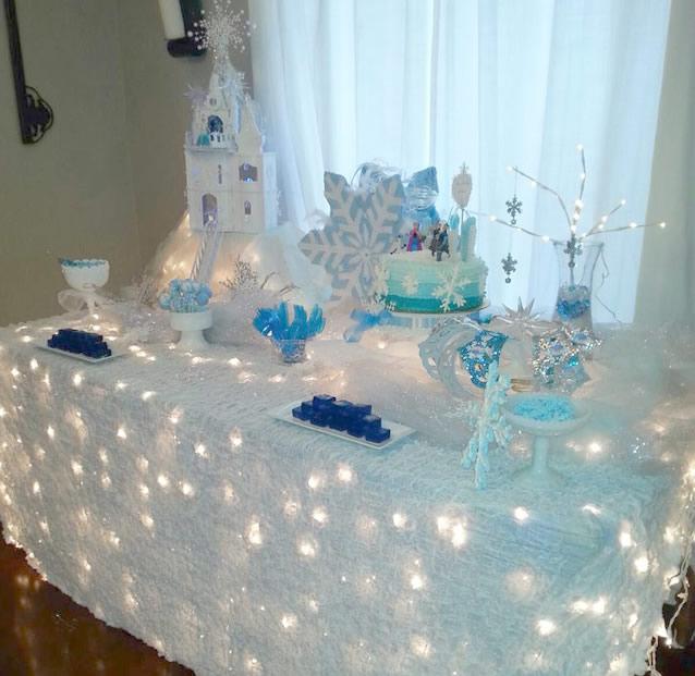 decoracao para festa tema frozen