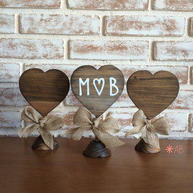 marcador de mesa bodas de casamento - bodas de madeira