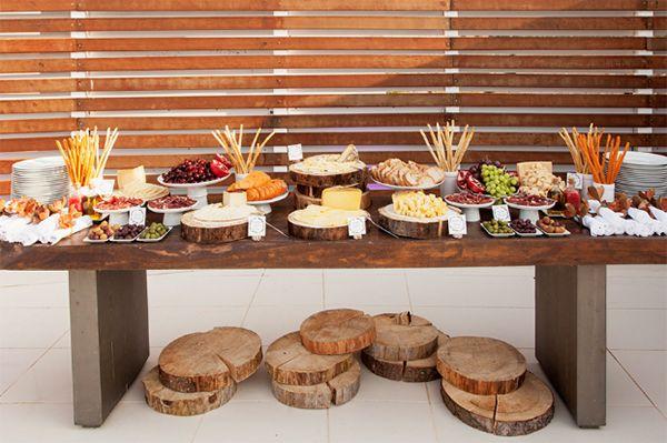 mesa bodas de madeira - bodas de casamento