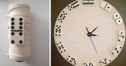 Relógio Artesanal com Dominós – Faça o Seu Agora Mesmo!