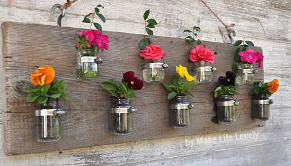 vaso de flor artesanato em vidro