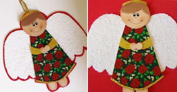Anjinho de Natal em EVA Revista Artesanato -> Decoração Em Eva Natal