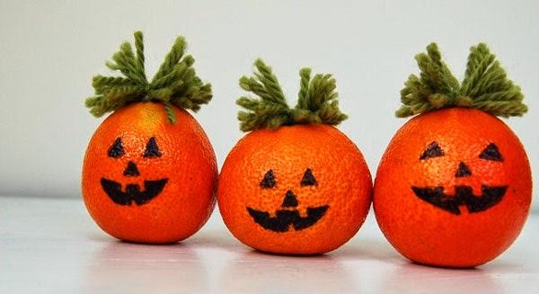 enfeites-de-halloween-fácil - laranja decorada