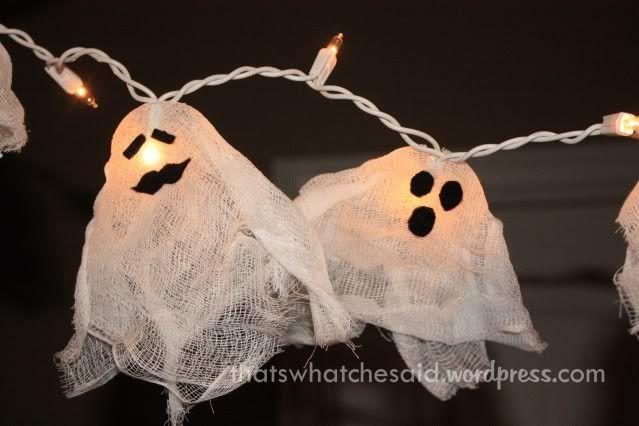 fantasminhas para decoração de halloween