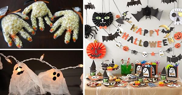 Festa de Halloween u2013 13 Dicas de Decoraç u00e3o Rápida e Barata Revista Artesanato -> Decoração De Festas De Halloween