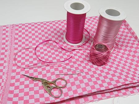 materiais para bordar com fitas